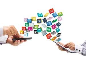 Flexible Anwendungen verschiedener mobiler Geräte für die App-Nutzung