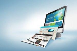 Monitor mit verschiedenem Webdesign